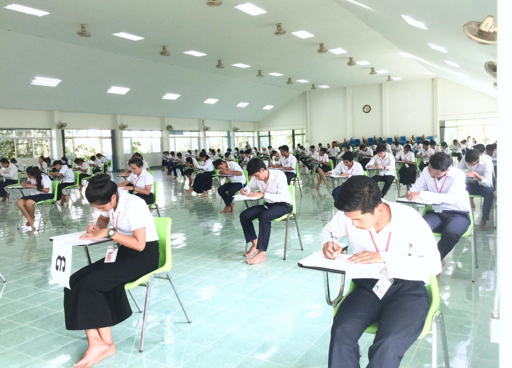 Cambodia students in exam