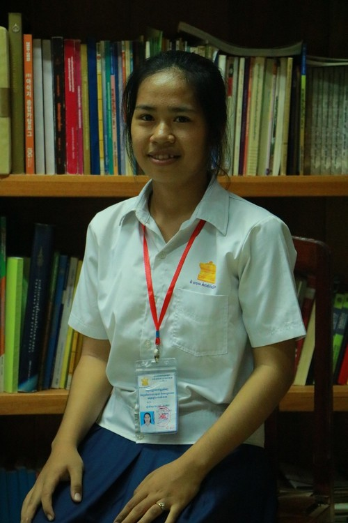 Kim - student in Kampong Thom Province