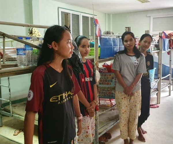 girls living in a dormitory